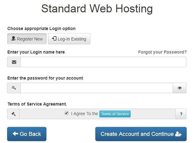 Interserver Customer Registration