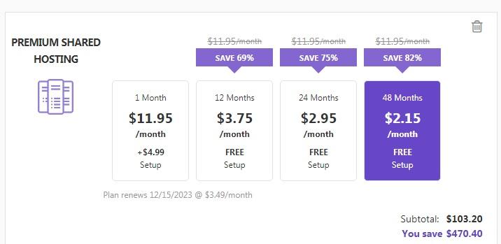 Hostinger Black Friday Sale Pricing