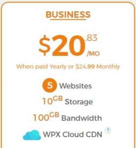 Business Plan WPX Hosting