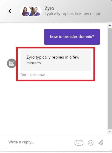 Zyro Customer Support